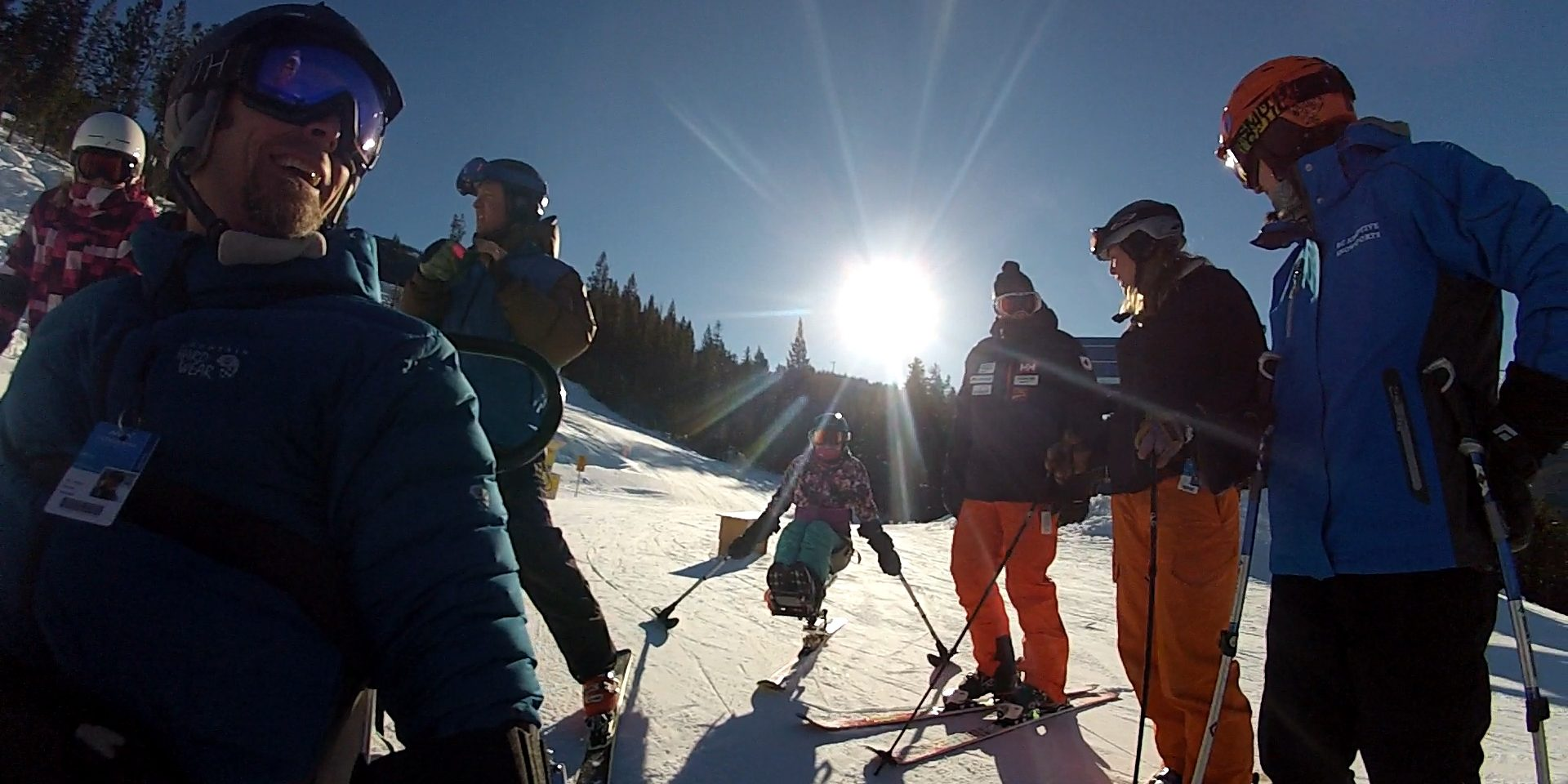 Sit skiing at Panorama with BC Adaptive.